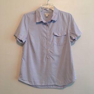 J. Crew polka dot shirt size 10